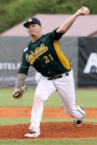 Wil Lee (Australia) struck out 13 batters in 6 and 2/3 in the 2015 Finals (photo by Jan Benes)