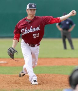 Jack pitching for the International Stars at 2014 Prague Baseball Week