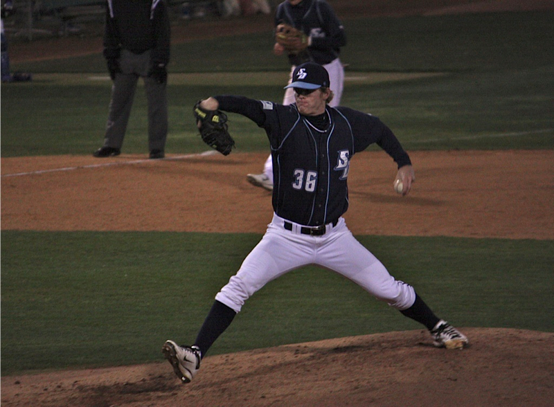 Jack pitching in college for San Diego